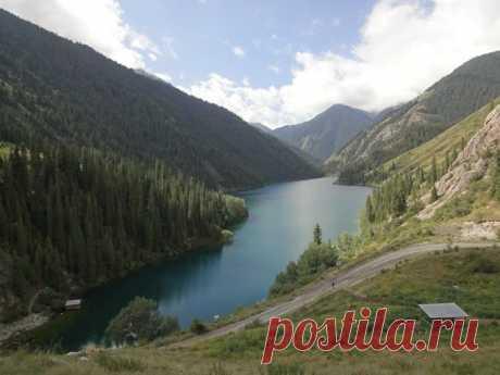 озеро в Казахстане....