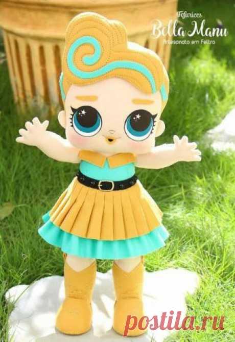 Куклу LOL можно сделать самостоятельно! Выкройки и примеры для вдохновения
