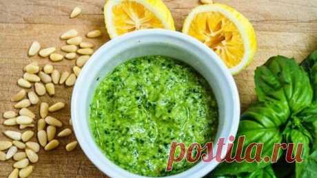 Как приготовить зеленый соус «Песто»