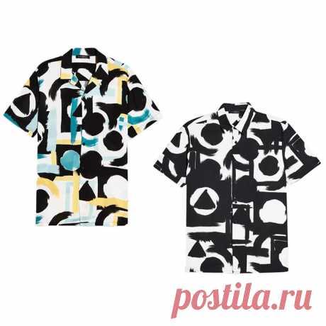 Men's casual short sleeve printed party button down shirts summer tee hiking walking holiday Sale - Banggood.com