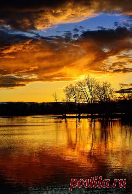 "coiour-my-world: ""Petrie Island Sunset by ppolgar """