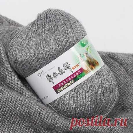 50 г/шар, высокое качество, ручная вязка, кашемир, зеленая пряжа, вязаный свитер, шапка, шарф, не скатывается,