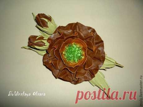 Создаем брошь-цветок из натуральной кожи. Часть 1 - Ярмарка Мастеров - ручная работа, handmade