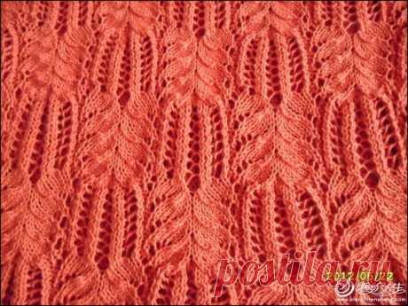 Необычный узор спицами схема. Вязание спицами необычные узоры и схемы.  
