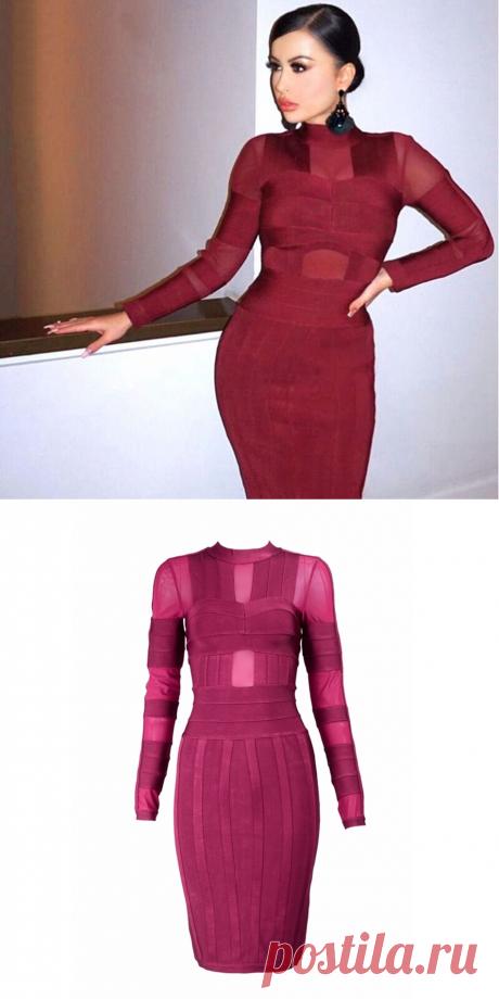 2018 новейшее летнее Бандажное Платье женское знаменитое вечерние платье с длинным рукавом с круглым вырезом облегающее вечернее платье женское оптовая продажа Vestidos купить на AliExpress
