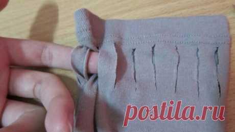 Как красиво укоротить рукав на несколько сантиметров — Мастер-классы на BurdaStyle.ru