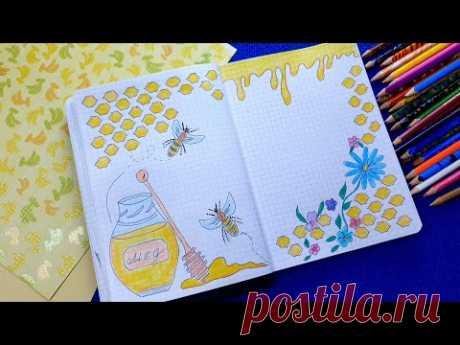 Идеи для ЛД ! СЛАДКАЯ СТРАНИЧКА! Оформление личного дневника в клеточку. Простые рисунки.