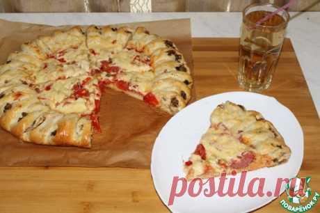 Необычный пирог пицца Кулинарный рецепт(***)