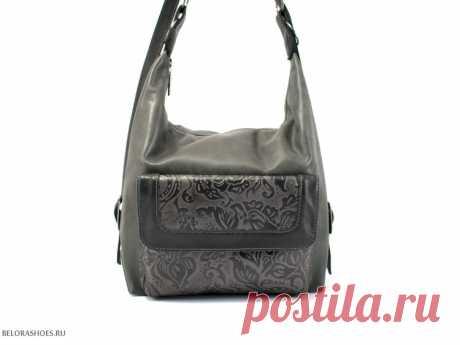 Сумка-рюкзак Маркиза, черный Стильная женская сумочка с одним центральным отделением