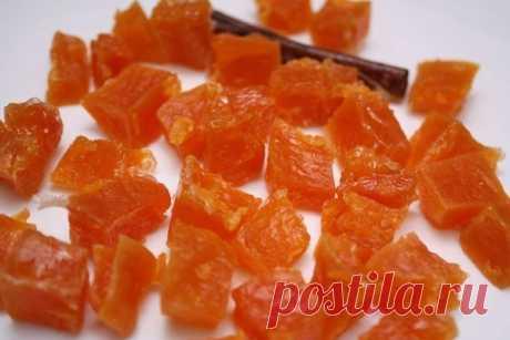 Как приготовить цукаты из тыквы - рецепт, ингридиенты и фотографии