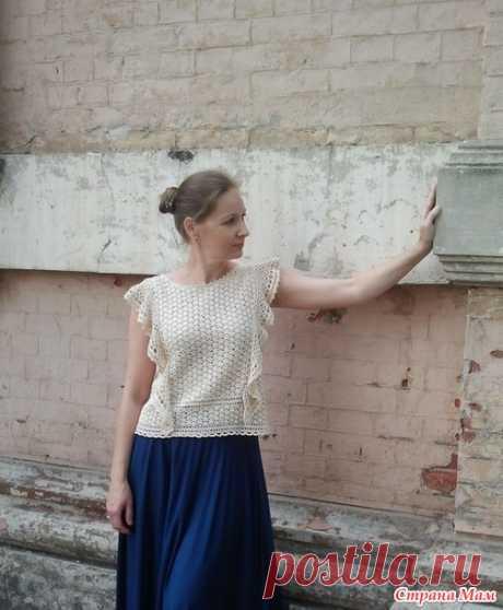 Блуза с воланами крючком - Вяжем вместе он-лайн - Страна Мам