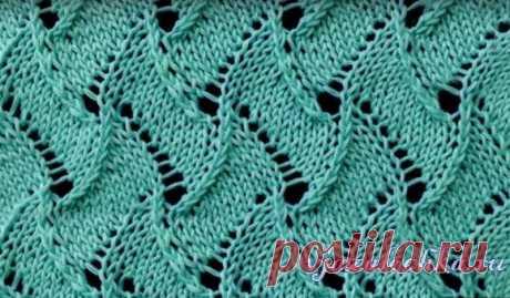 Ажурный узор спицами «Scroll Lace»