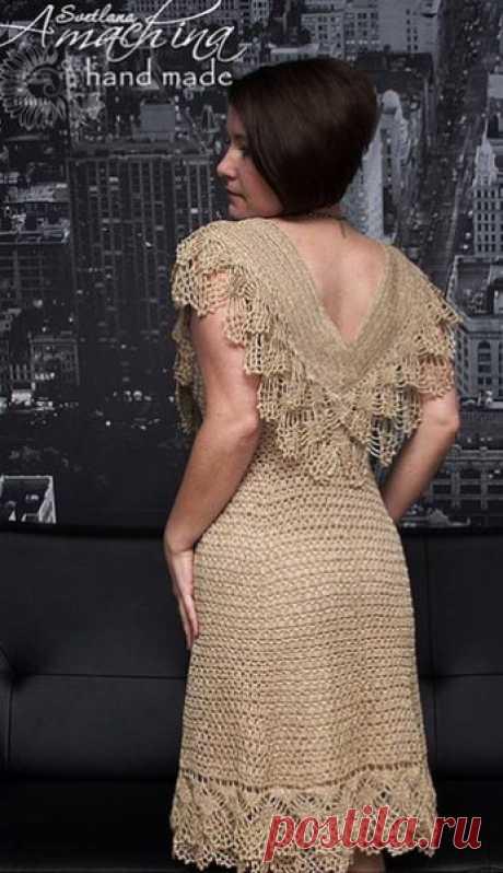 Платье с оборками крючком. Нарядное платье крючком со схемами | Я Хозяйка