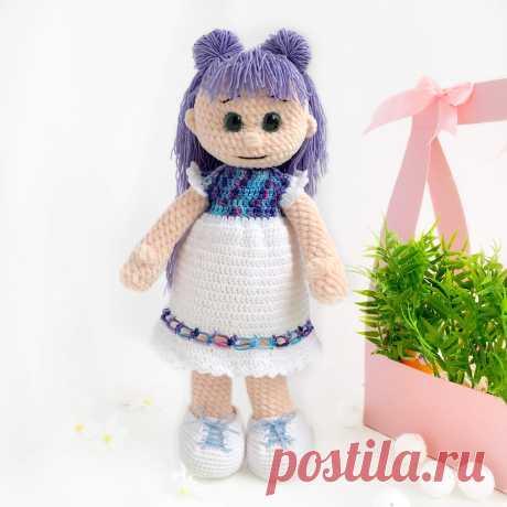 "Мастер-класс ""Кукла в платье"" - LanaMi toys, Мастер-класс pdf, скачать Мастер-класс кукла, кукла крючком, вязание крючком кукла, платье вязание крючком."