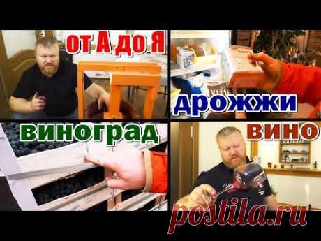 Домашнее вино от А до Я / из винограда изабелла + молдова / Рецепт от Евгения Богачёва