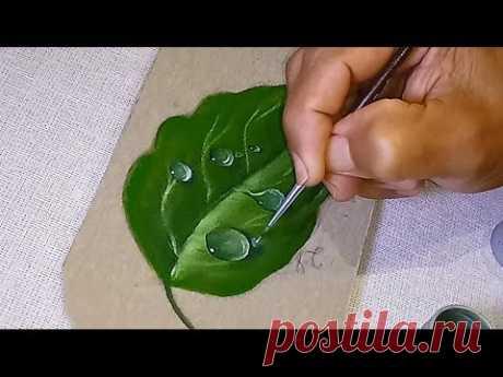 Roberto Ferreira -  Aprenda a Pintar  facilmente Gotas de Orvalho em tecido