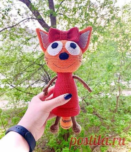 Кошка Карамелька амигуруми: мастер-класс | Амигуруми