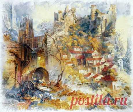 Картины, наполненные волшебством... Пейзажи Риммы Вьюговой
