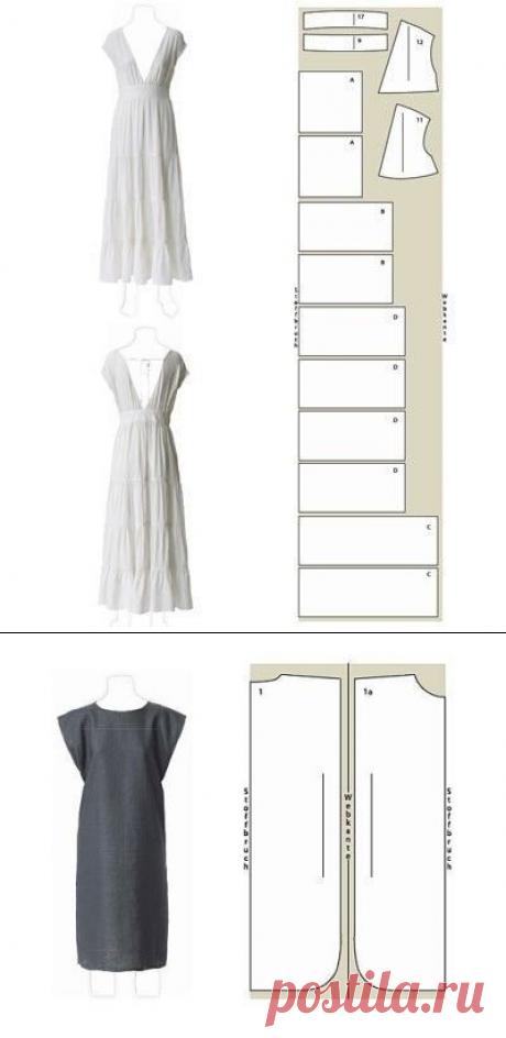 Простые выкройки красивых летних платьев — Сделай сам, идеи для творчества - DIY Ideas