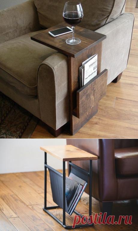 Самодельные столики для диванов. Для тех у кого мужья умеют мастерить
