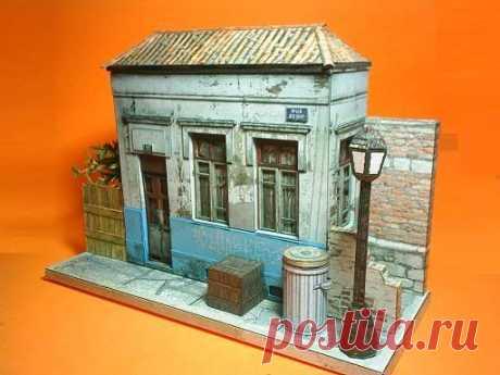 Brazilian Abandoned House Paper Model - All