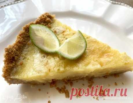 Лимонный пирог «Лимончелло». Ингредиенты: яйца куриные, яичные желтки, сметана