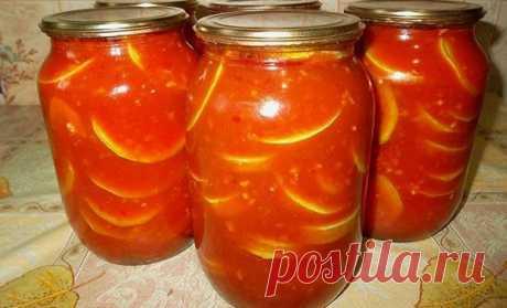 Кабачки вкусные, консервированные в томатном соке на зиму