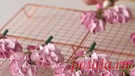 Цветы из меренги на палочке 🌺🌺🌺