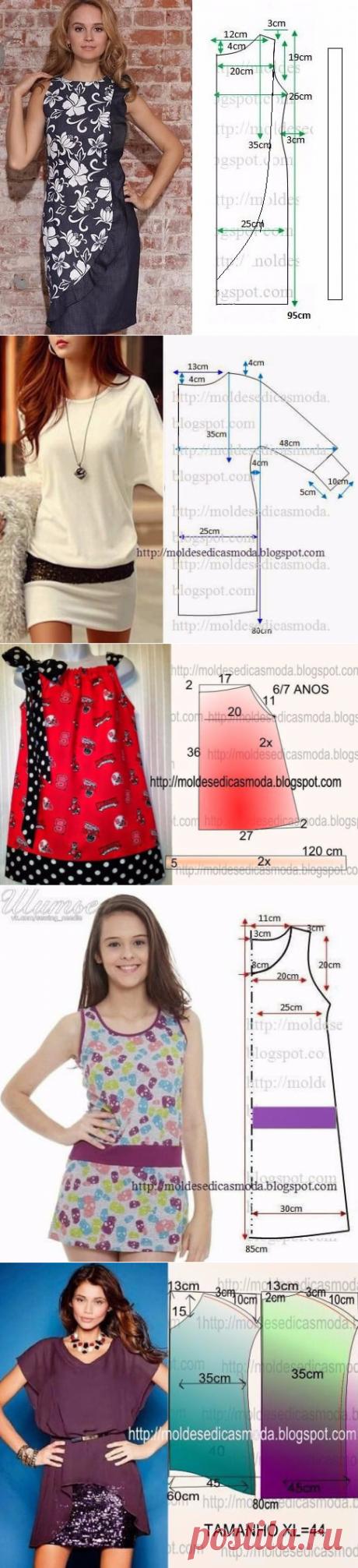 Летние платья и сарафаны с простыми выкройками… 50 платьев — 50 выкроек! | Тысяча и одна идея