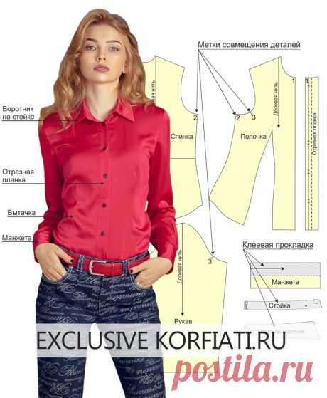 Рубашка и блузка — разбираемся в терминах и деталях  https://korfiati.ru/2019/09/bluzka-v-detalyah/  В современном женском гардеробе блузкам и рубашкам отведено особое место, и вряд ли найдется представительница прекрасного пола, у которой нет хотя бы одного подобного изделия. Блузки и женские рубашки — очень комбинаторны, и в зависимости от ткани и кроя, с каждой из этих вещей можно создавать самые разные образы — от строгих деловых, до романтично-воздушных. Да и шить так...