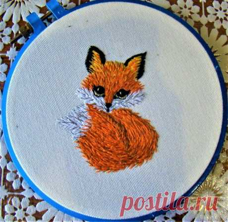 Fox Thread Painting Pattern Needlepoint Hand Embroidery   Etsy