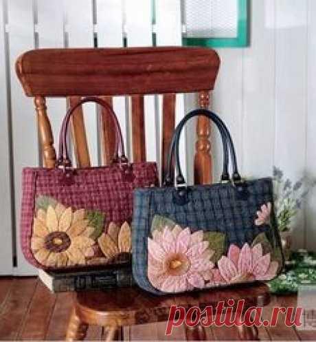Декоративные лоскутные сумочки для вашего вдохновения.