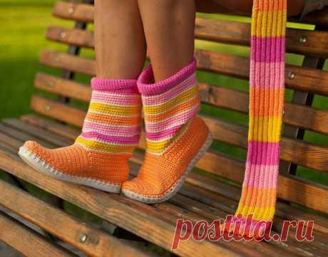 Вязанная обувь - САПОЖКИ