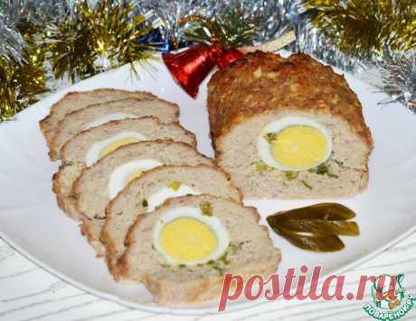Мясной рулет с яйцом и зеленым луком – кулинарный рецепт