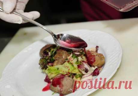 Готовим салат с куриной печенью как в ресторане