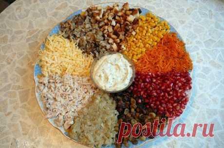 Вкусный и оригинальный салат «9 радуг» — и вкус, и подача просто восхитительны!