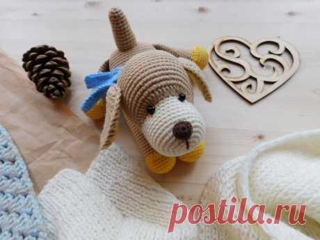Собака амигуруми крючком: описание вязания