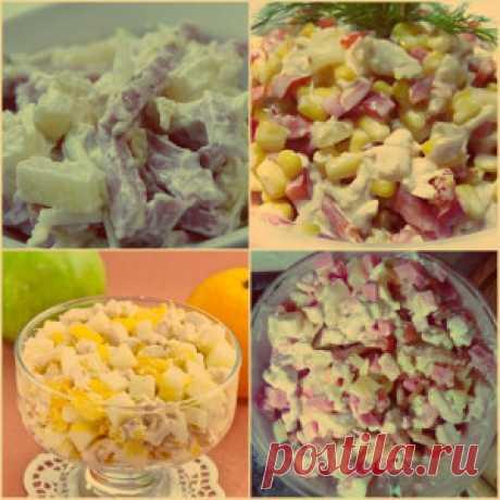 Cалаты с ананасами: рецепты с фото простые и вкусные
