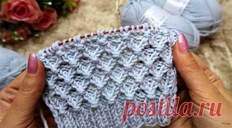 Очень простой и легкий узор (Вязание спицами) – Журнал Вдохновение Рукодельницы