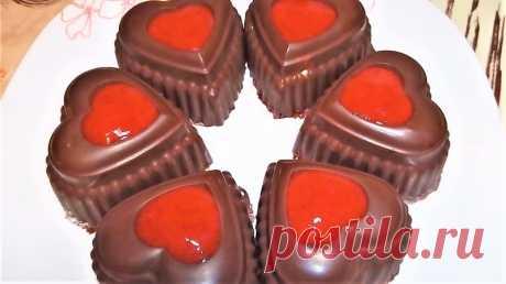 Десерт на 14 февраля. Творожной десерт с клубникой. — Кулинарная книга - рецепты с фото