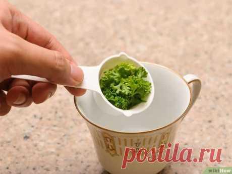 Чай из петрушки для похудения и избавления от отеков