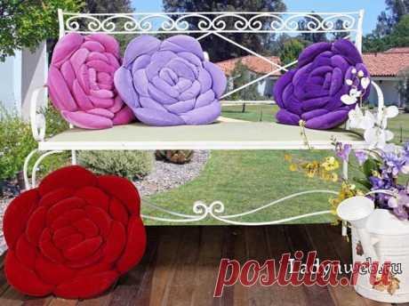 Как сшить подушку в форме цветка: выкройка, идеи | Ladynweb.ru