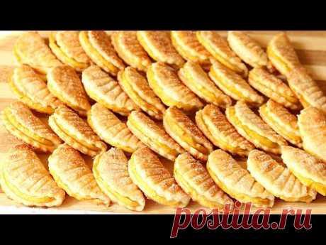 МНОГО ТВОРОЖНОГО Печенья 😋 из МИНИМУМА Продуктов! Простой рецепт Печенья Ракушки с Яблоком! Cookies