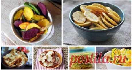 Полезные чипсы из овощей и фруктов: 7 простых рецептов на каждый день