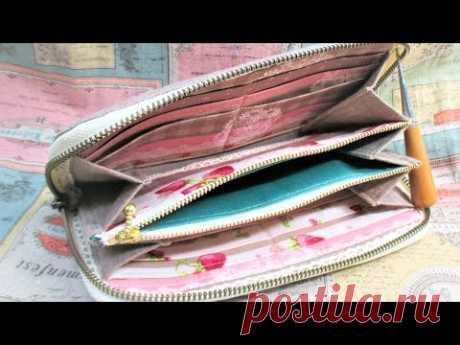 ラウンドファスナー長財布 作ってみた&作り方 How to make fabric wallet