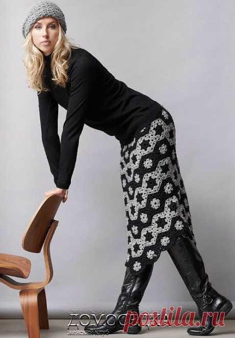 Вязаная юбка крючком | ДОМОСЕДКА