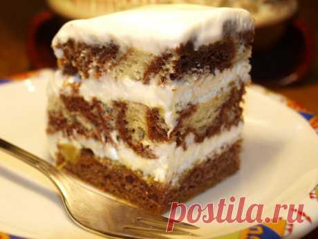 """Вкусный полосатый торт...а зовется он """"""""зебра"""