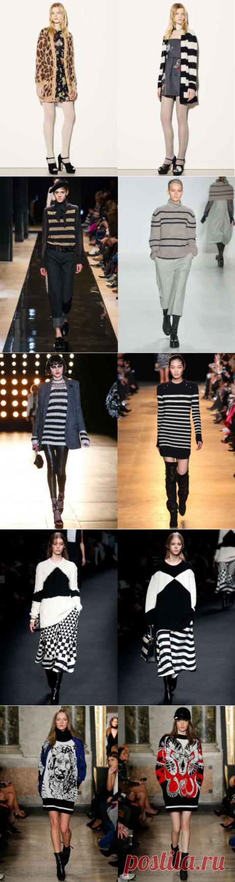 Модные вязаные свитера осень-зима 2015-2016: полный обзор - Ladiesvenue принты