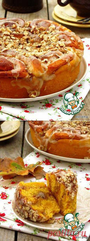 Тыквенные булочки с орехами и коричневым сахаром. Автор: dolphy