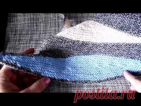 Shawl spokes partial knitting master class New videos here https:\/\/www.youtube.com\/user\/LusiTen